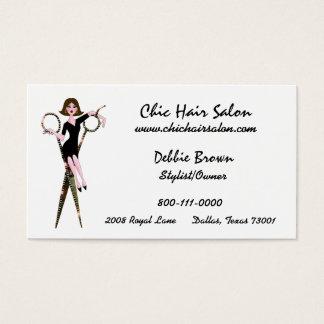 Cartões de visitas da diva do salão de beleza