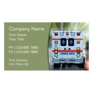 Cartões de visitas da emergência médica