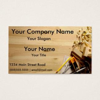 Cartões de visitas da empresa de construção civil