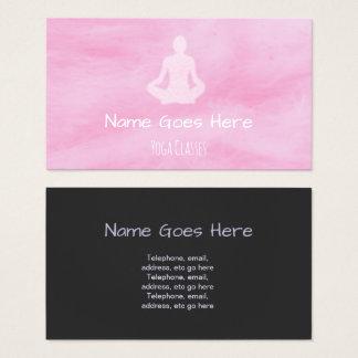 """Cartões de visitas da ioga dos """"doces"""""""