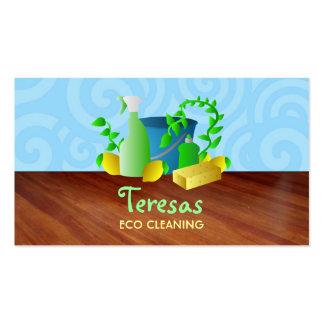 Cartões de visitas da limpeza da casa de Grean