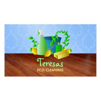 Cartões de visitas da limpeza de Eco