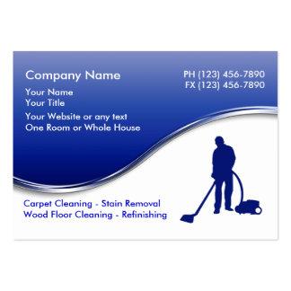 Cartões de visitas da limpeza do assoalho