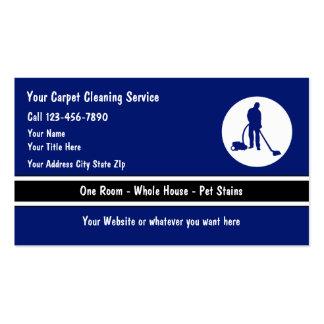 Cartões de visitas da limpeza do assoalho de tapet