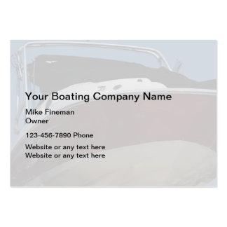 Cartões de visitas da limpeza do barco