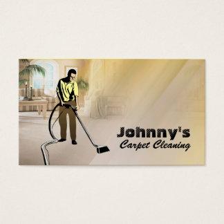 Cartões de visitas da limpeza do tapete