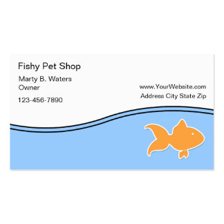 Cartões de visitas da loja de animais de estimação