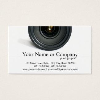 Cartões de visitas da objectiva do fotógrafo