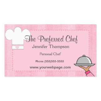Cartões de visitas da senhora Cozinheiro chefe