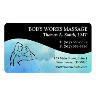 Cartões de visitas da terapia da massagem da