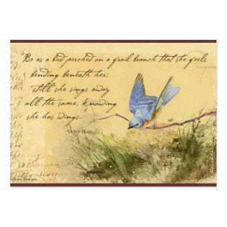 Cartões de visitas das citações de Victor Hugo do