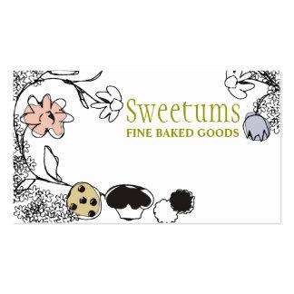 cartões de visitas das flores dos doces da padaria