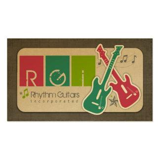 Cartões de visitas das guitarra do ritmo