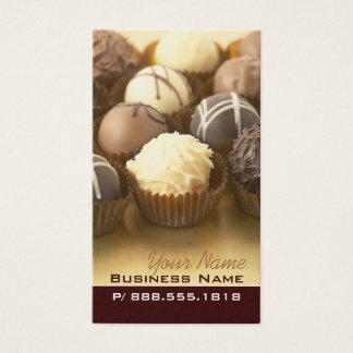 Cartões de visitas das trufas de chocolate