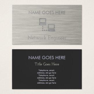 """Cartões de visitas """"de aço"""" do engenheiro da rede"""