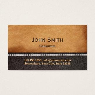 Cartões de visitas de couro costurados elegantes