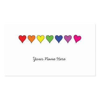 Cartões de visitas de flutuação dos corações