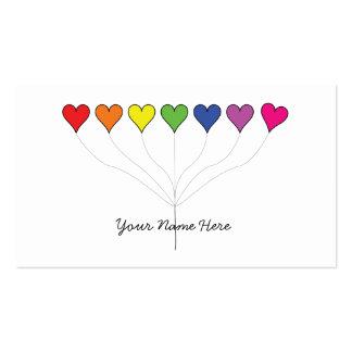 Cartões de visitas de flutuação dos corações do ba