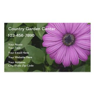 Cartões de visitas de jardinagem