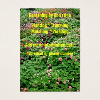 Cartões de visitas de jardinagem das flores dos