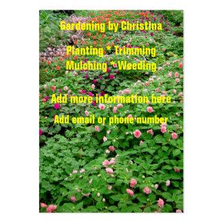Cartões de visitas de jardinagem das flores dos ja