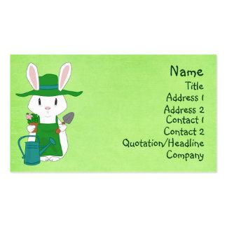 Cartões de visitas de jardinagem do coelho