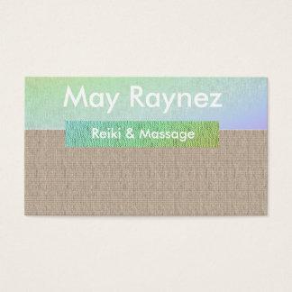 Cartões de visitas de Reiki da massagem da ioga