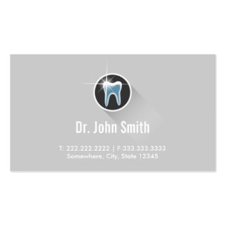Cartões de visitas dentais cinzentos lisos da