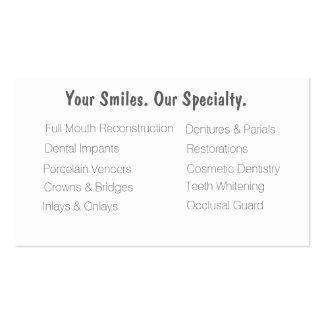 Cartões de visitas dentais da clínica