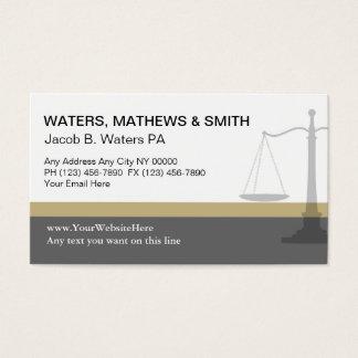 Cartões de visitas do advogado originais