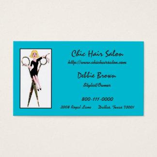 Cartões de visitas do cabeleireiro com DIVAtude