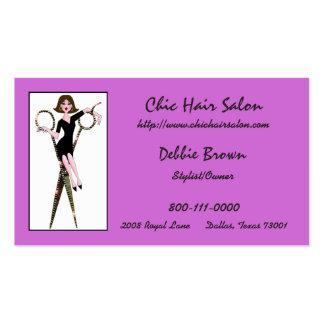 Cartões de visitas do cabeleireiro da diva