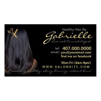 Cartões de visitas do cabeleireiro do afro-america