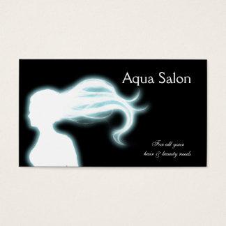 Cartões de visitas do cabeleireiro do Aqua