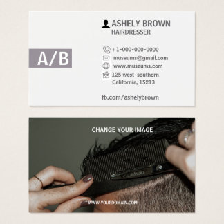 Cartões de visitas do cabeleireiro, Hairstylist,