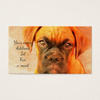 Cartões de visitas do cão do pugilista