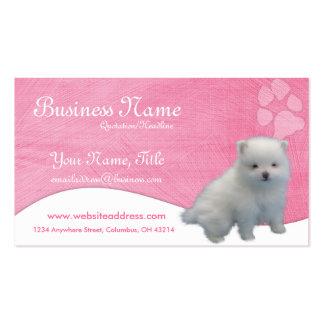 Cartões de visitas do cão Filhote de cachorro de