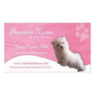 Cartões de visitas do cão Filhote de cachorro ma