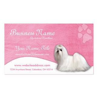 Cartões de visitas do cão:: Maltês