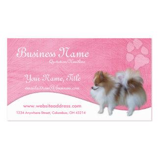 Cartões de visitas do cão Pomeranian