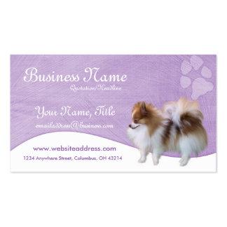 Cartões de visitas do cão Pomeranian D2b