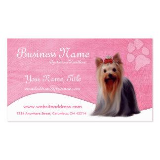 Cartões de visitas do cão:: Yorkshire Yorkie