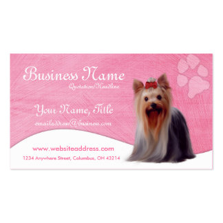 Cartões de visitas do cão Yorkshire Yorkie