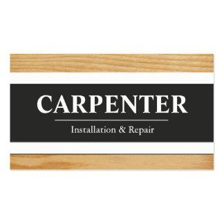 Cartões de visitas do carpinteiro