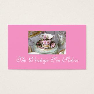 Cartões de visitas do chá do vintage