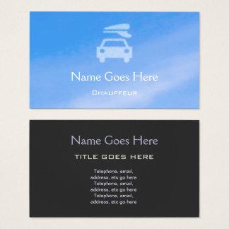 """""""Cartões de visitas do Chauffeur do céu azul"""" Cartão De Visitas"""