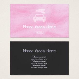 """Cartões de visitas do Chauffeur dos """"doces"""""""