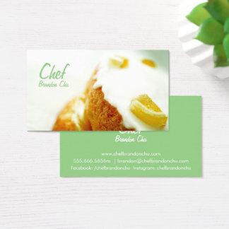 Cartões de visitas do cozinheiro chefe do bolo