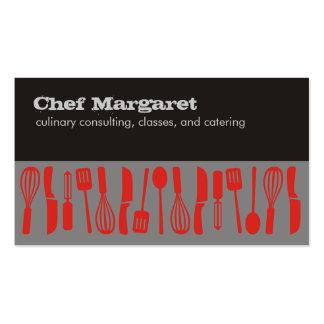 Cartões de visitas do cozinheiro chefe dos