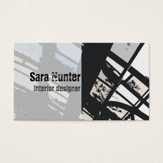 Cartões de visitas do design de interiores